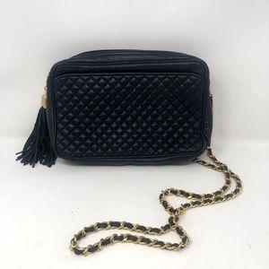 Vintage Ganson Leather Black Crossbody Bag